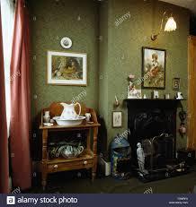 Grüne Tapete Im Viktorianischen Stil Der Achtziger Jahre