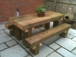 contemporary rustic furniture. Image Of: Picnic Table Modern Rustic Furniture Contemporary D