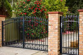 steel pedestrian and driveway gates