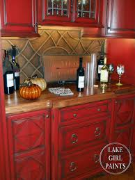 Red Country Kitchen Cabinets Red Country Kitchen Home Design Ideas