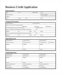 application for credit account template printable credit application form commercial template card