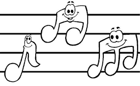 Sheet Music With Music Notes Coloring Page Kids Play Color Music