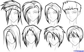 Curly How To Draw Boy Hair Easy Hair Reference Forjpg