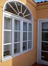 Arched Windows Wooden Window - Exterior transom window