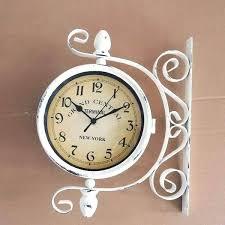 train station clocks double sided j6158485 basic outdoor train station double 2 sided clock thermometer attractive