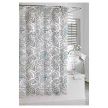 Paisley Shower Curtain Blue Gray Kassatex Target
