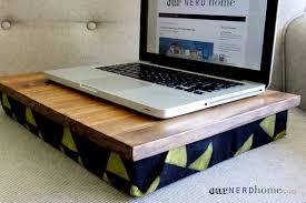 geek gifts diy lap desk with hand stamped fabric legend of zelda