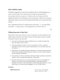 Mla Citation Style Citation Writing