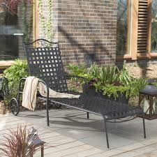 Woodard Capri Wrought Iron Multi Position Single Outdoor Chaise