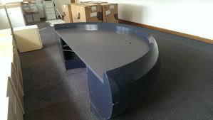 black office reception desk