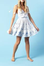 winston white ivy eyelet dress front cropped image