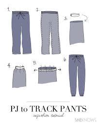 Make Pants Diy Turn Old Pajama Pants Into Couture Track Pants Sheknows