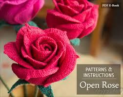 Crochet Decoration Patterns Crochet Rose Pattern Crochet Pattern For Wedding Bouquets