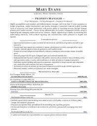 Sample Property Manager Resume Elegant 15 Best Resume Images On ...