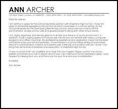Sample Cover Letter Secretary Letters Font