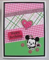 Handmade Greeting Cards Lot 4 Sewn Collage Birthday Disney Babies