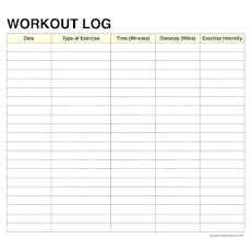 free workout log images of exercise log template excel sheet record workout