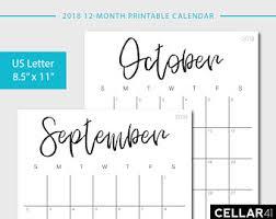 printable calendar 2018 monthly calendar printable calendar
