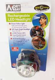 Mort Bay Lighting Mort Bay Lighting Rechargeable Led 1w Headlight 80 Lumens New Induction Charging