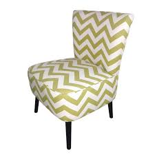Joveco Fabric Chevron Armless Accent Side Chair Yellow Side Chair R95