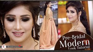 modern pre bridal makeup tutorial video step by step pre bridal makeup krushhh by konica