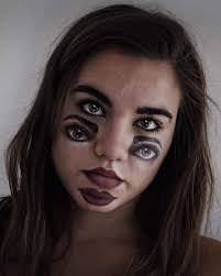 this makeup is really scary and one can do it following the steps given in use