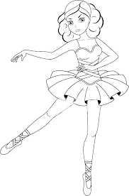 Barbie Ballerina Coloring Pages Colouring To Print