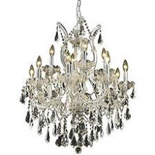 elegant the art of lighting. Elegant Lighting 2801D27C/RC Maria Theresa 13-Light Chandelier In Chrome With Royal Cut The Art Of G