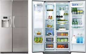 samsung fridge freezer. samsung rsh7znrs american-style fridge freezer with water and ice dispenser - stainless steel