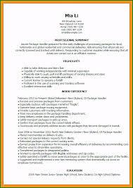 Material Handler Resume Outstanding Material Handler Resume