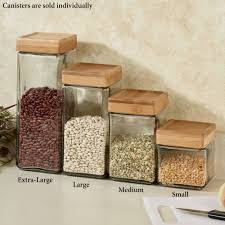 macallister stackable glass kitchen canisters macallister kitchen canister clear touch to zoom