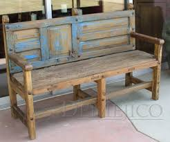 Bench Out Of Headboard Salvaged Doors And Wood Rustic Bench Made From Salvaged
