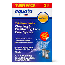 Equate Cleaning & Disenfecting Lens Care System Contact Lense Liquid, 12 Oz  , 2 Pk - Walmart.com