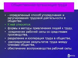 Реферат Организация труда ru Организация труда рефераты