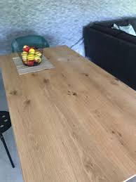 Esszimmertisch Holzplatte Eisenfüße