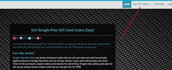 generate google play gift code