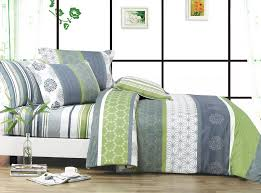 grey bedding 3 piece greygray and green bedding set queen king grey and white striped bedding