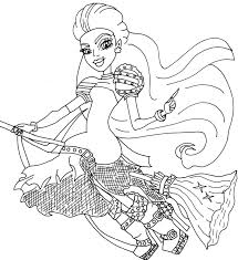 Small Picture Monster High Coloring Pages All Characters Printable Kids Monster