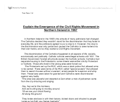 explain the emergence of the civil rights movement in northern  document image preview