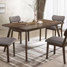 Crown Mark Gina Mid Century Modern Dining Table With Angled Legs