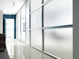 Transparent Aluminium Glass And Aluminium Office Partition Wall System By Arcadia