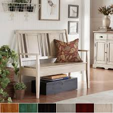 Eleanor Panel Back Wood Storage Bench by iNSPIRE Q Classic - Free Shipping  Today - Overstock.com - 20163734