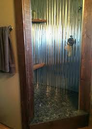 galvanized shower walls best ideas about tin on with new walk better bathrooms basement bathroom corrugated