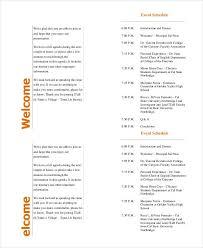 Dinner Program Templates Corporate Dinner Brochure Template Corporate Dinner Brochure