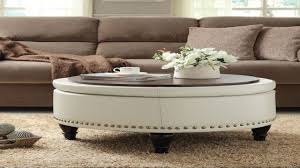 Round Padded Coffee Table Ottoman White Amazon Cc2af28556b Design Inspirations