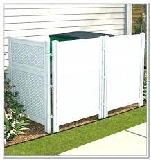 outdoor trash can storage garbage bins bin plans wooden cabinet