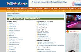 soft schools algebra i worksheets