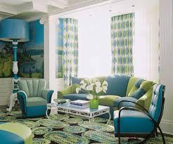 Orange And Blue Living Room Decor Blue Living Room Design Ideas