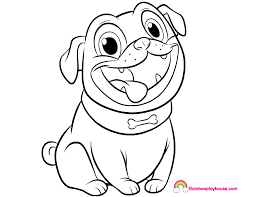 Puppy Dog Pals Rolly Printable Coloring Page Rainbow Playhouse