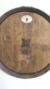 wine barrel head wall art by on stave